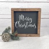 farmhouse Merry Christmas sign