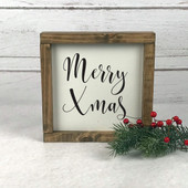 Farmhouse Christmas Decor Wood Sign