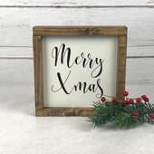 Farmhouse Christmas Decor Wood Sign