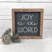 Joy To The World Farmhouse Wood Sign