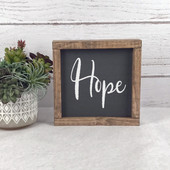hope farmhouse wood sign