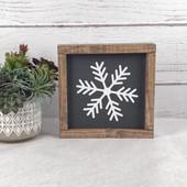 Snowflake Farmhouse Christmas Sign