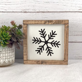 Snowflake Farmhouse Christmas Sign