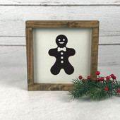 Gingerbread Man Farmhouse Christmas Sign