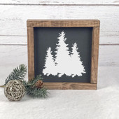 Pine Tree Wood Farmhouse Christmas Sign