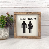 Male Female Figure Bathroom Sign