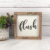 Flush Bathroom Sign