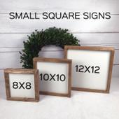 Love You Wood Framed Sign