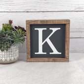 Initial Wood Farmhouse Sign
