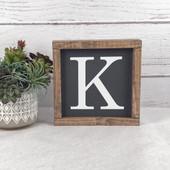 Initial Wood Farmhouse Sign