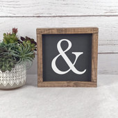 Ampersand Wood Farmhouse Sign
