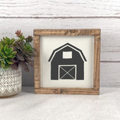 Barn Silhouette Farmhouse Sign