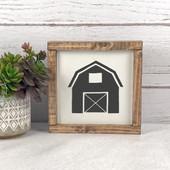 Barn Silhouette Farmhouse Sign