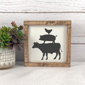 Farm Animal Silhouette Farmhouse Sign