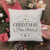 christmas tree farm throw pillow
