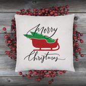 christmas sleigh pillow