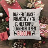 santa's reindeer christmas pillow