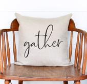 Gather Rustic Farmhouse Pillow