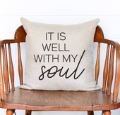 it is well with my soul throw pillow