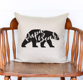 papa bear throw pillow