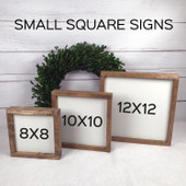 Set of 4 Farmhouse Wood Signs | Hope Joy Peace Love