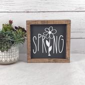 Spring Farmhouse Wood Sign