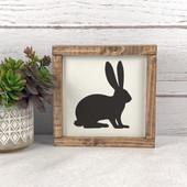 Easter Bunny Wood Farmhouse Sign