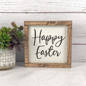Happy Easter Farmhouse Wood Sign