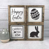 Set Of 4 Farmhouse Easter Signs