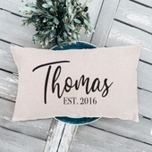personalized last name pillow