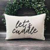 let's cuddle lumber throw pillow