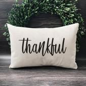 thankful lumbar throw pillow