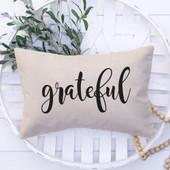 grateful lumbar pillow cover