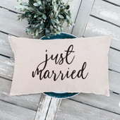 just married pillow, wedding gift