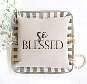 so blessed throw pillow