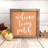 pumpkin sign