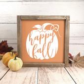 Happy Fall Pumpkin Sign