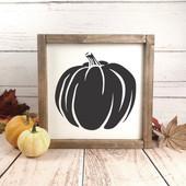 Farmhouse Pumpkin Sign
