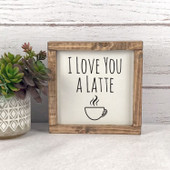 latte coffee sign