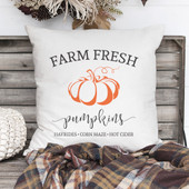 farm fresh pumpkin pillow
