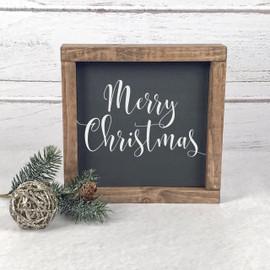 Christmas Farmhouse Wood Signs Linden Fields