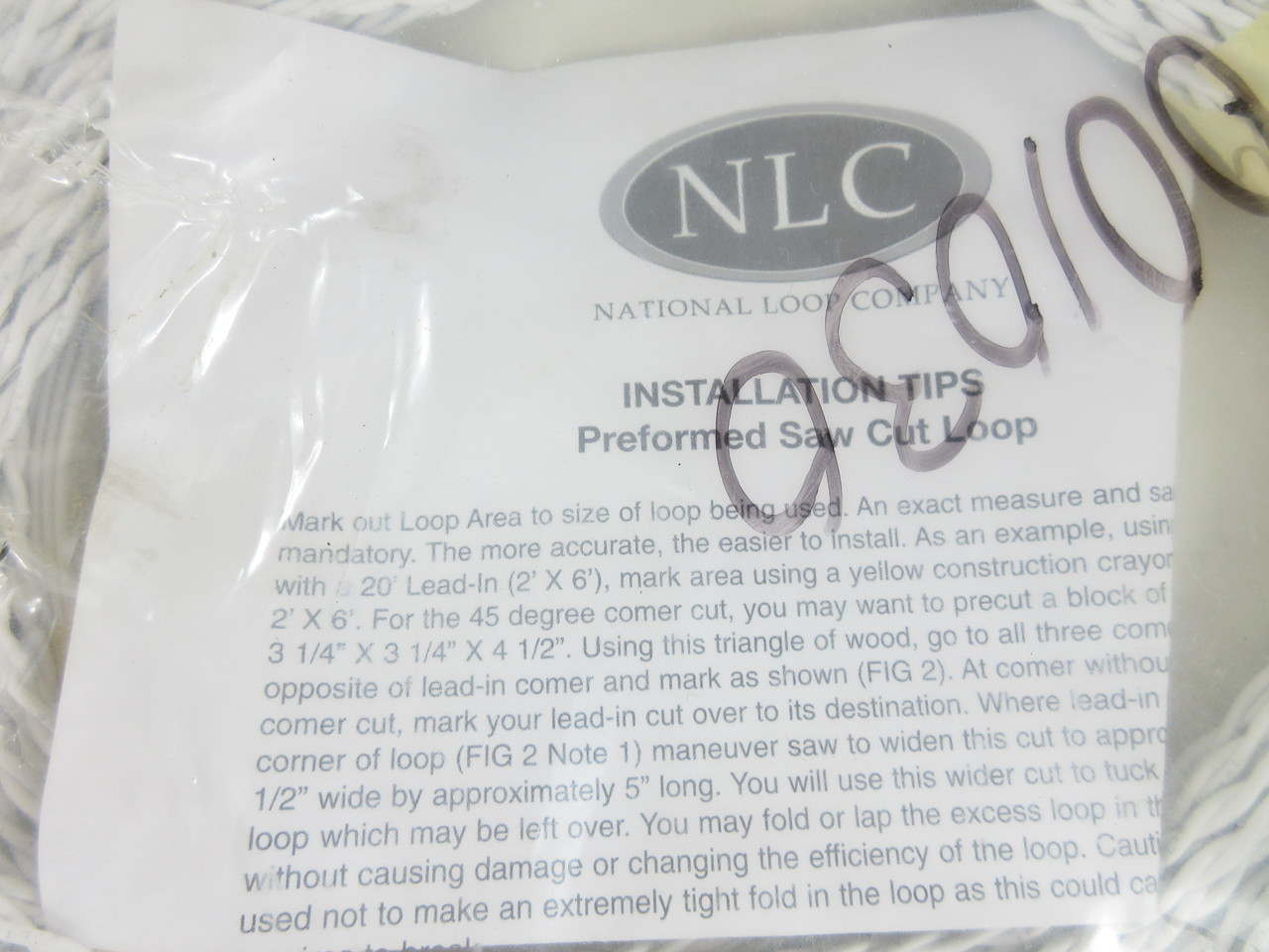 NLC 18Ga Saw Cut 3/' x 6/' Vehicle Detection Traffic Loop with 100ft Lead-In Wire