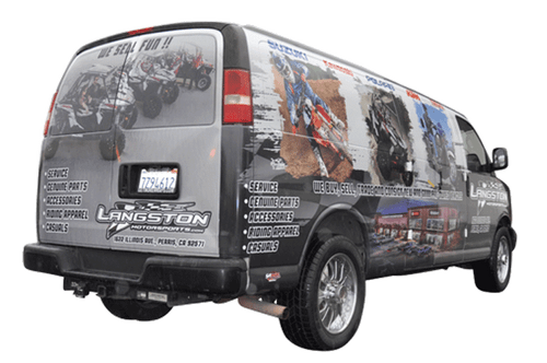CHEVY XL VAN GLOSS GF VEHICLE WRAPS WITH CUSTOM DESIGN