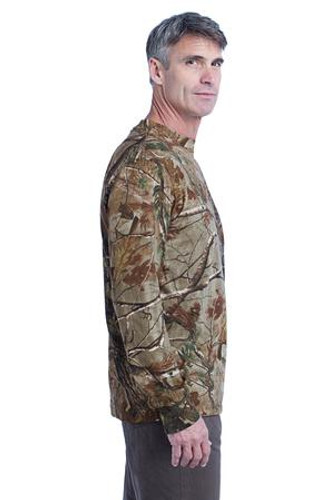 Russell Outdoors™ Realtree Long Sleeve Explorer 100% Cotton T-Shirt with Pocket.