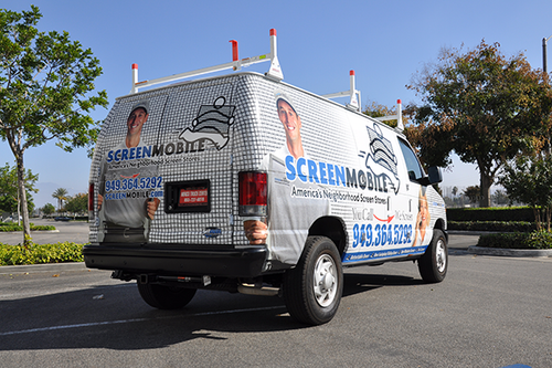 Ford Van Vehicle Wrap Screen Mobile By Getmorewraps.com