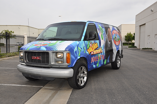 GMC VAN GLOSS 3M VEHICLE WRAPS WITH CUSTOM DESIGN
