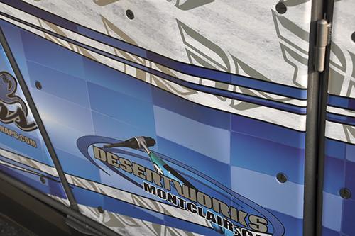 POLARIS RZR 900 XP GLOSS 3M VEHICLE WRAPS WITH CUSTOM DESIGN AND METALIC INK