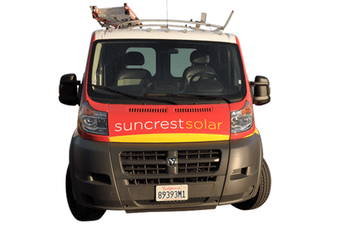 Chevy Van Wrap 3M Vehicle Wrap for Suncrest Solar Fleet