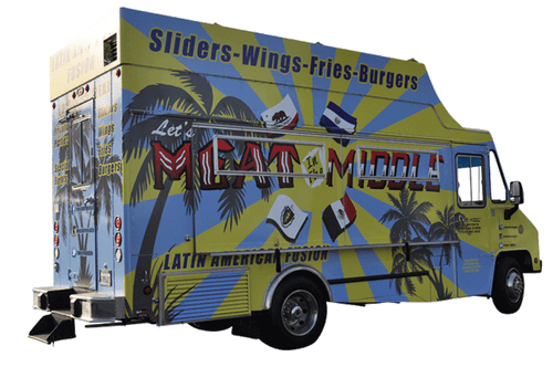 GF Food Truck Vehicle Wrap for Meat in the Middle