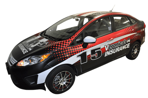 Ford Fiesta Car Wrap For Veronicas Auto Insurance